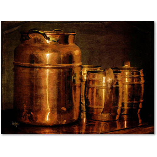 "Trademark Fine Art ""Copper Jugs"" Canvas Art by Lois Bryan"