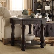 Signal Hills  Huntington Baluster Weatred Brown End Table