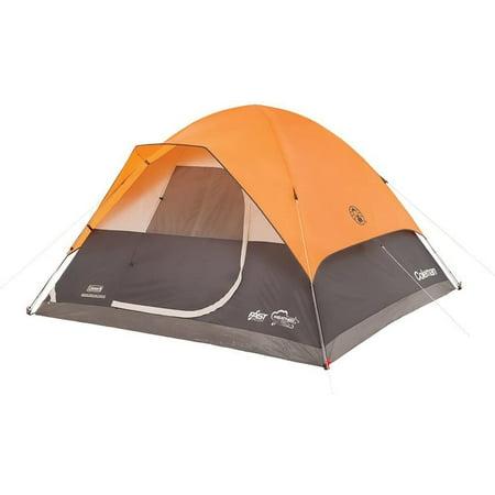 Coleman Moraine Park 6-Person Fast Pitch Dome Tent, 1 Room, Orange
