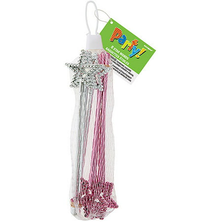 Wings Fairy Princess Party Favor (Mini Star Fairy Princess Wands, 8ct)