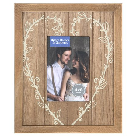 Better Homes and Gardens 4x6 Heart Picture Frame