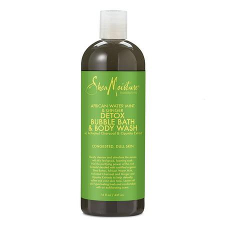 SheaMoisture African Water Mint Detox & Stimulate Bubble Bath & Body Wash, 16 oz Mint Scented Bubble Bath