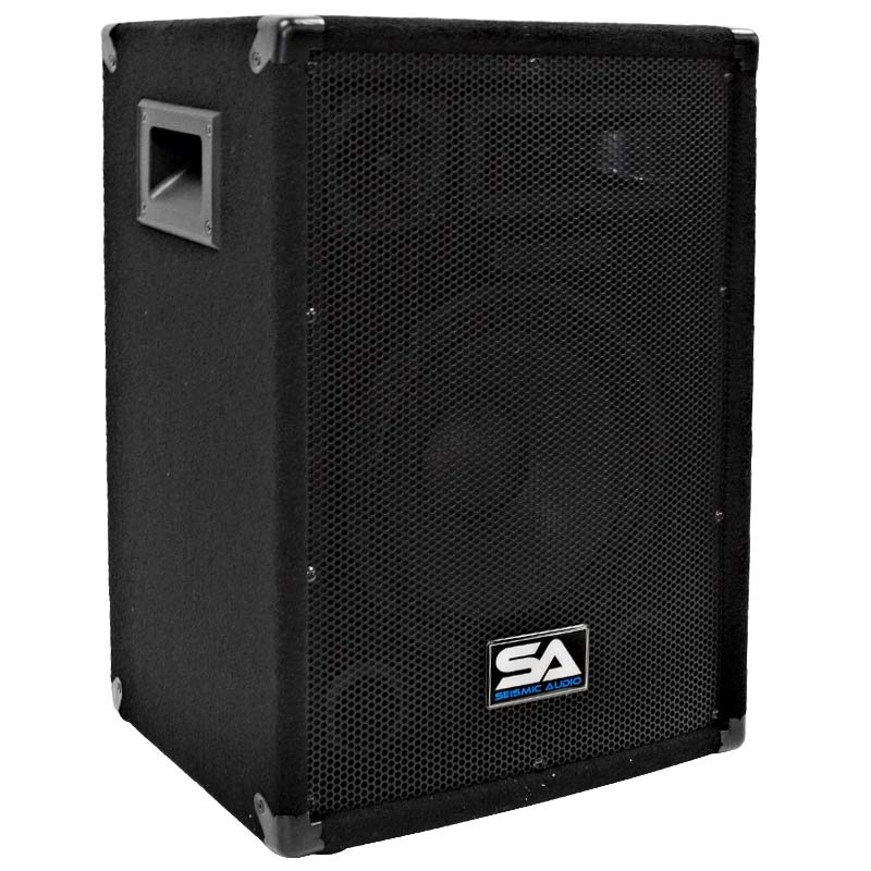 "Seismic Audio  10"" PA DJ PRO AUDIO SPEAKER 200 W Monitor - SA-10Single"