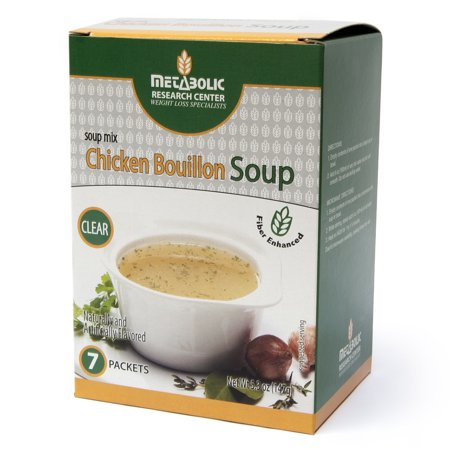 Protein Enhanced Chicken Bouillon Soup by Metabolic Research Center, 7 Count, 15g protein per