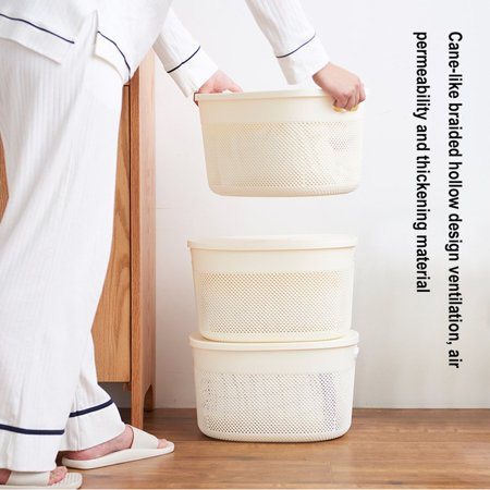 Hollow Out Storage Case Plastic Organizer Box Useful Home Supplies Basket - image 2 de 9