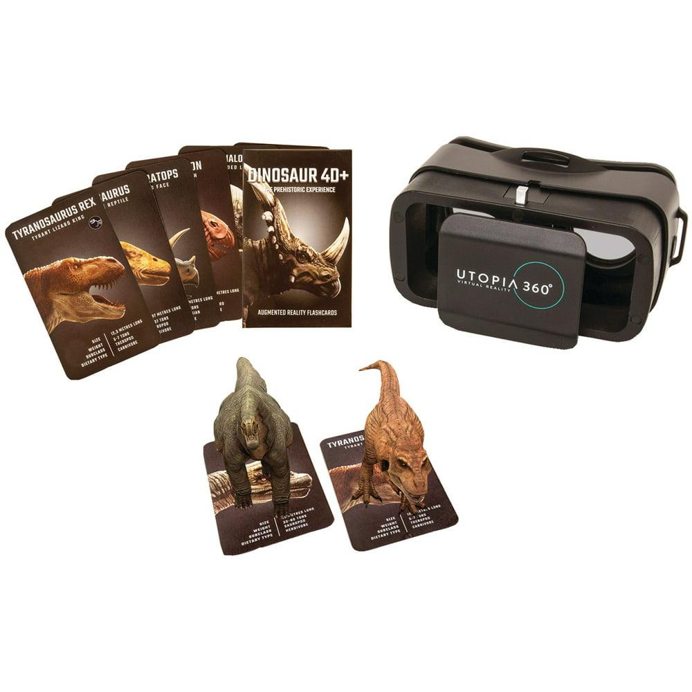 Retrak ETVRARDINO 4D+ Utopia 360 VR Headset & Dinosaur Augmented Reality Cards