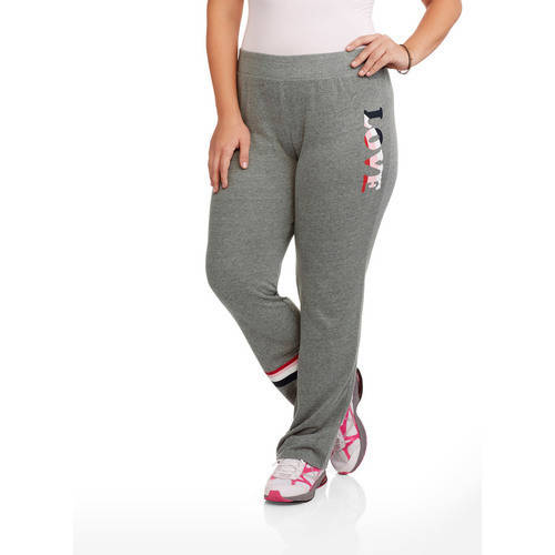 Junior Plus Relaxed Flare Graphic Sweatpants