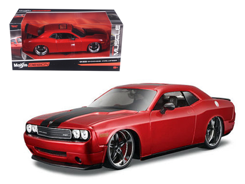 "2008 Dodge Challenger SRT8 Red Classic Muscle"" 1 24 Diecast Model Car by Maisto"" by Diecast Dropshipper"