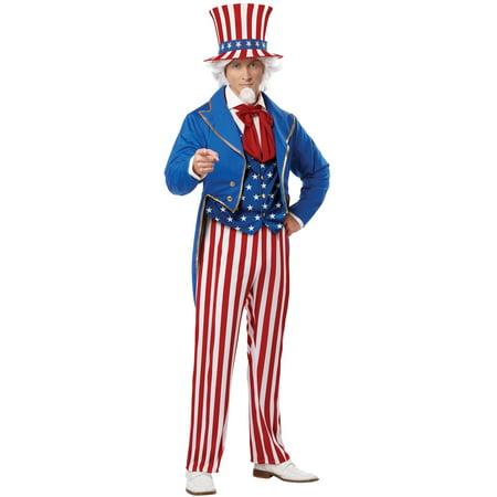 Patriotic Uncle Sam Adult Costume - Uncle Sam Halloween Costumes