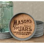 Mason Jar Lid Coaster with Mason Jar Logo - Set of 4