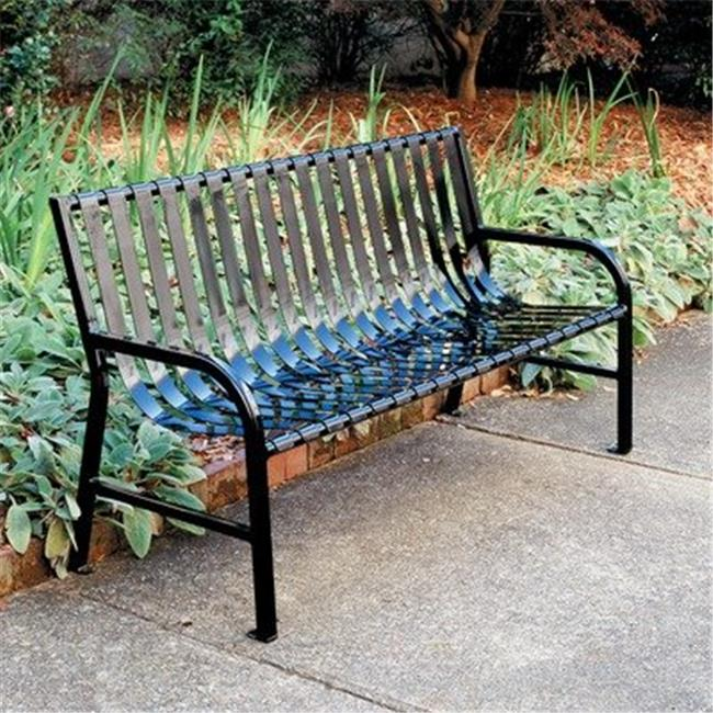 Witt Industries M4-BCH-SLV 4 ft. Stadium Series SMB Slatted Metal Bench