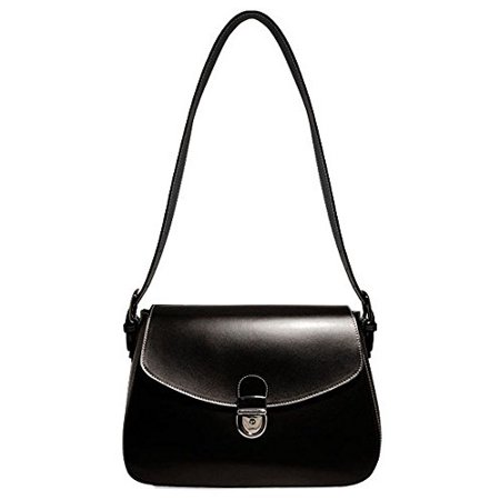 Jack Georges Milano Flapover Handbag in Black