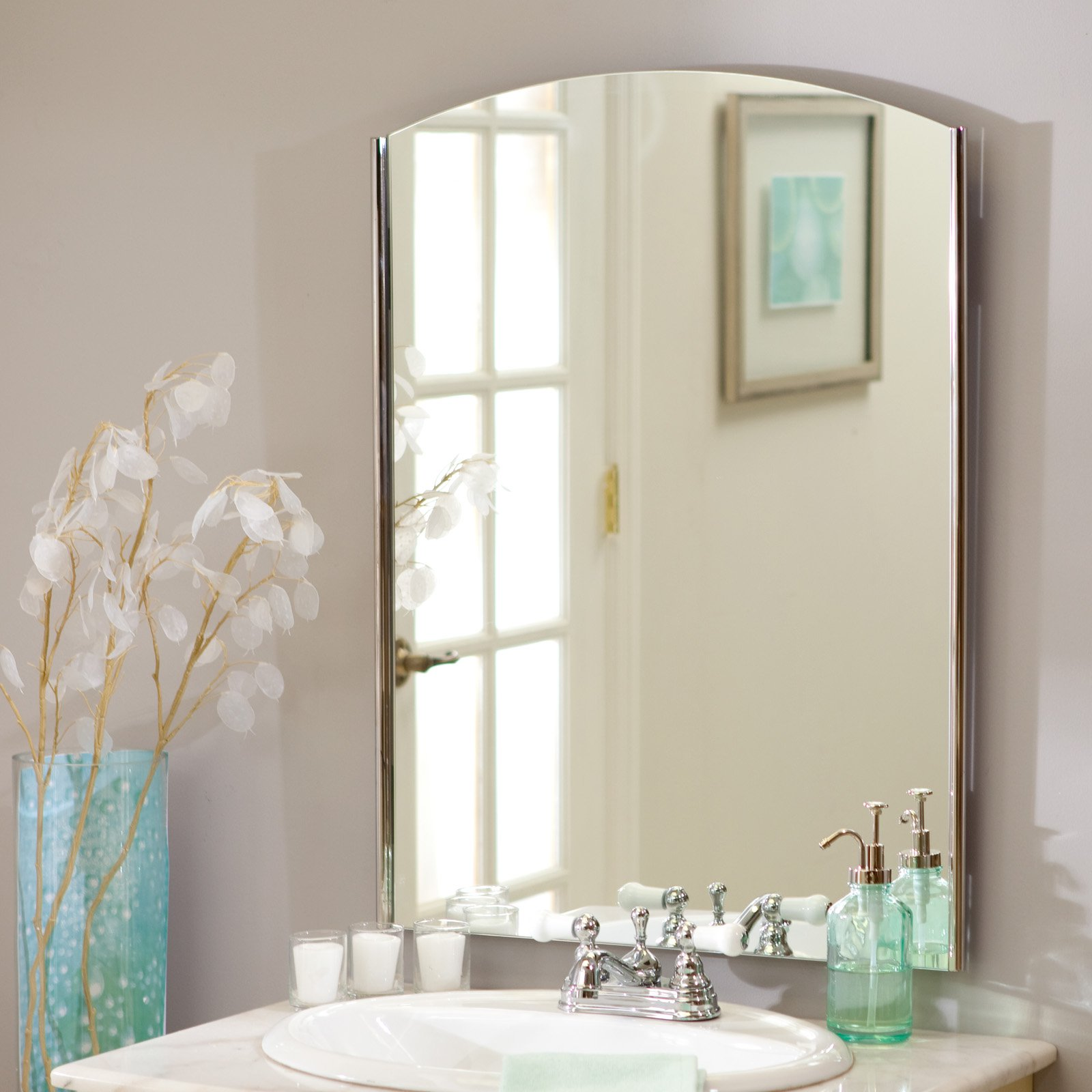Décor Wonderland Frameless Vista Wall Mirror 22W x 29.5H in. by Decor Wonderland