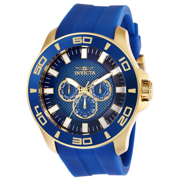 Invicta Men's 28002 Pro Diver Quartz Chronograph Blue Dial Watch