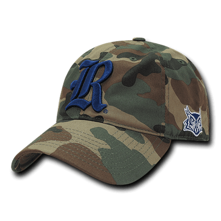 NCAA Rice Owls University 6 Panel Relaxed Camo Camouflage Baseball Caps Hats