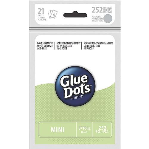"Glue Dots .1875"" Mini Dot Sheets, 252 Clear Dots"