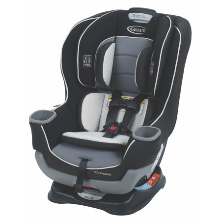 Graco Extend2Fit Convertible Car Seat, Gotham Black ()