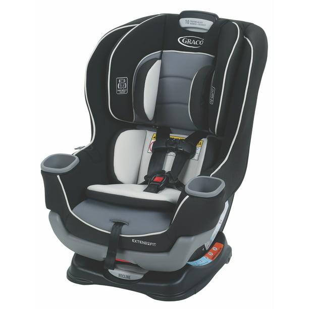 Graco Extend2Fit Convertible Car Seat, Gotham Black ...