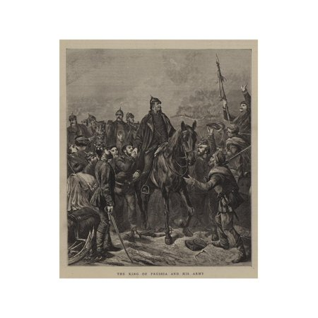 The King of Prussia and His Army Print Wall Art (Halloween King Of Prussia)