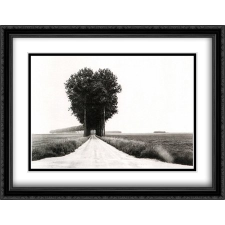 En Brie 2x Matted 40x28 Large Black Ornate Framed Art Print by Henri Cartier Bresson