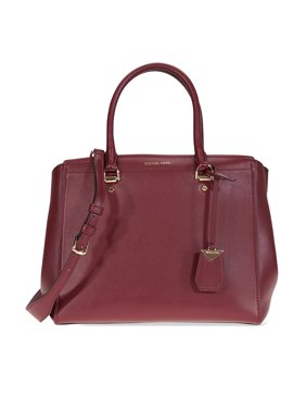 6ed344913cdb4 Product Image Michael Kors Benning Large Smooth Leather Satchel- Oxblood