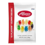 Albanese Fat-Free Gluten-Free 12 Flavor Gummi Bears Bulk Candy, 5 Lb