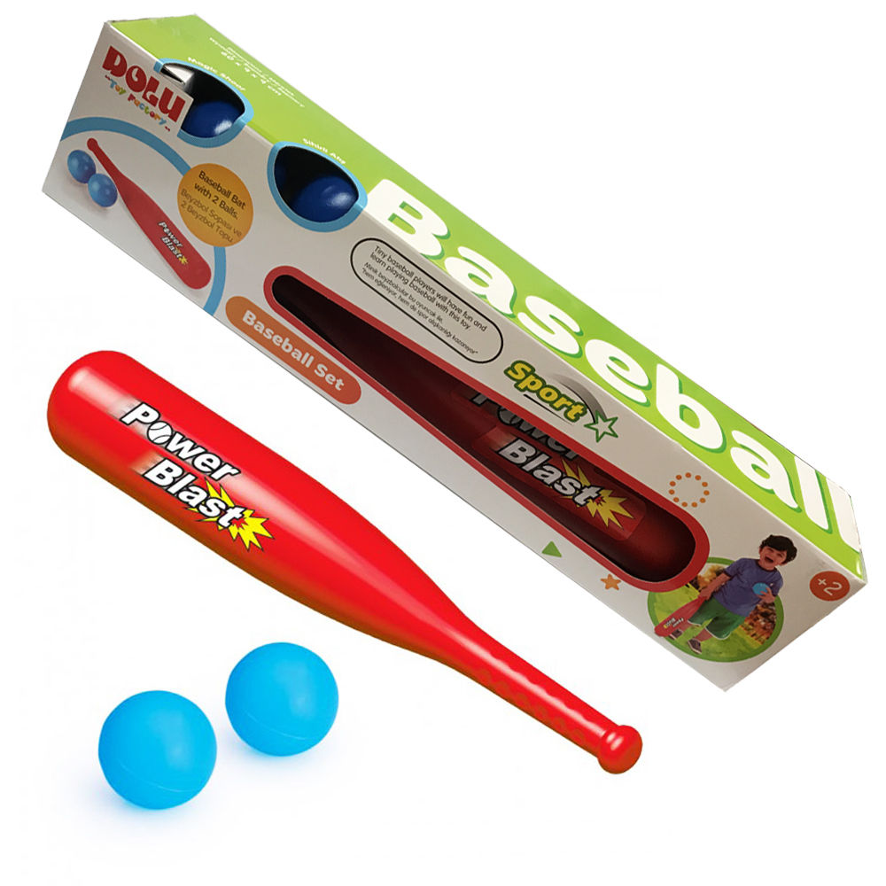 Plastic Baseball Bat Set Plastic Set Backyard Toys Baseball Bat with 2 Balls by