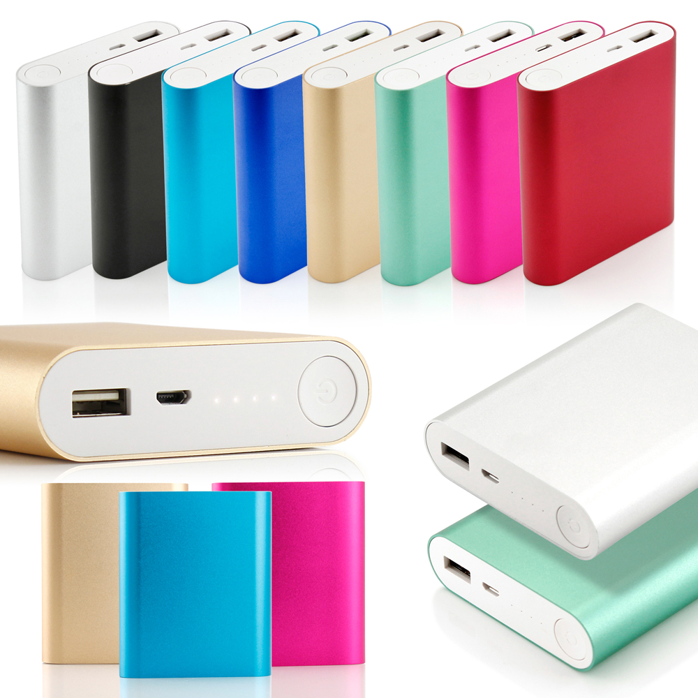 10400mAh Universal Aluminum Metal Portable Backup External Battery USB Power Bank Charger For Cell Phone mobile devices - Silver