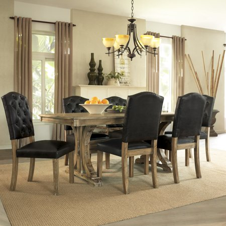 Dorel Home 5 Piece Rustic Wood Dining Set Walmart Com