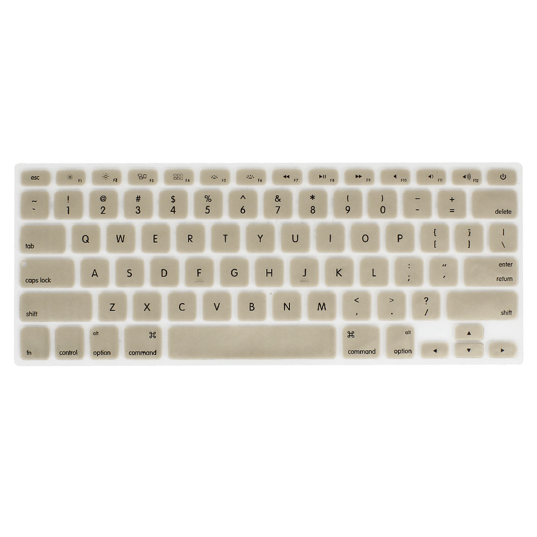 Unique Bargains Champagne Gold Soft Silicone Keyboard Film Cover for Apple MacBook Air Pro 13""