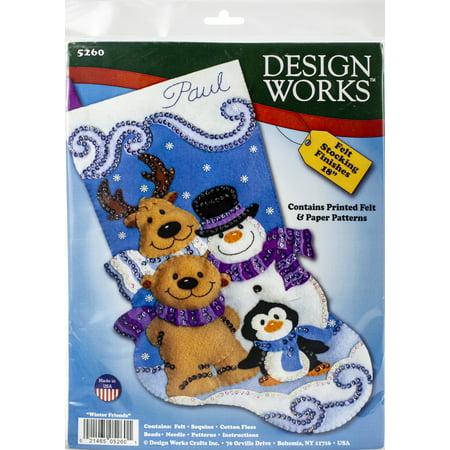 18 Inch Felt Stocking Kit - Design Works Kit 18
