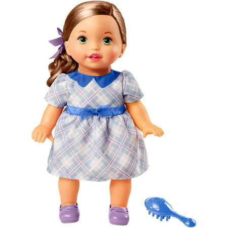 Little Mommy Sweet As Me Plaid Dress Doll with Hairbrush - Me Doll