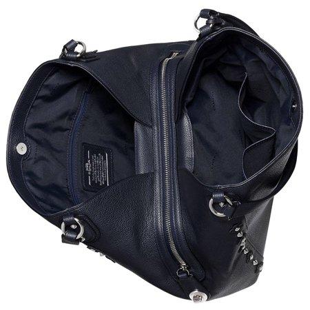 d92aa1aadd Best COACH Edie Shoulder Bag 31 in Floral Rivets Leather in Navy deal