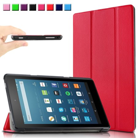 Infiland Ultra Smart Case Cover For All New Fire Hd 8  6Th Generation  2016 Release  8  Hd Display Wi Fi Tablet  Red