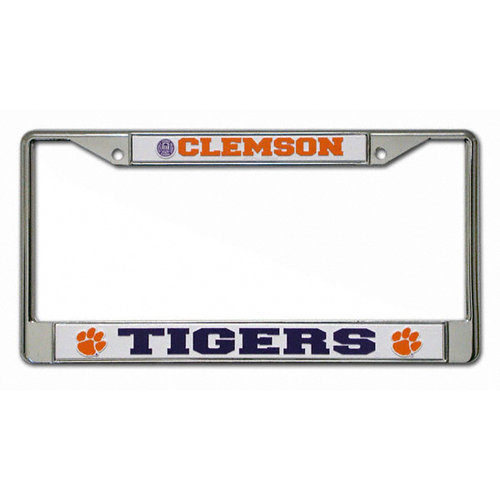 NCAA - Clemson Tigers Chrome License Plate Frame