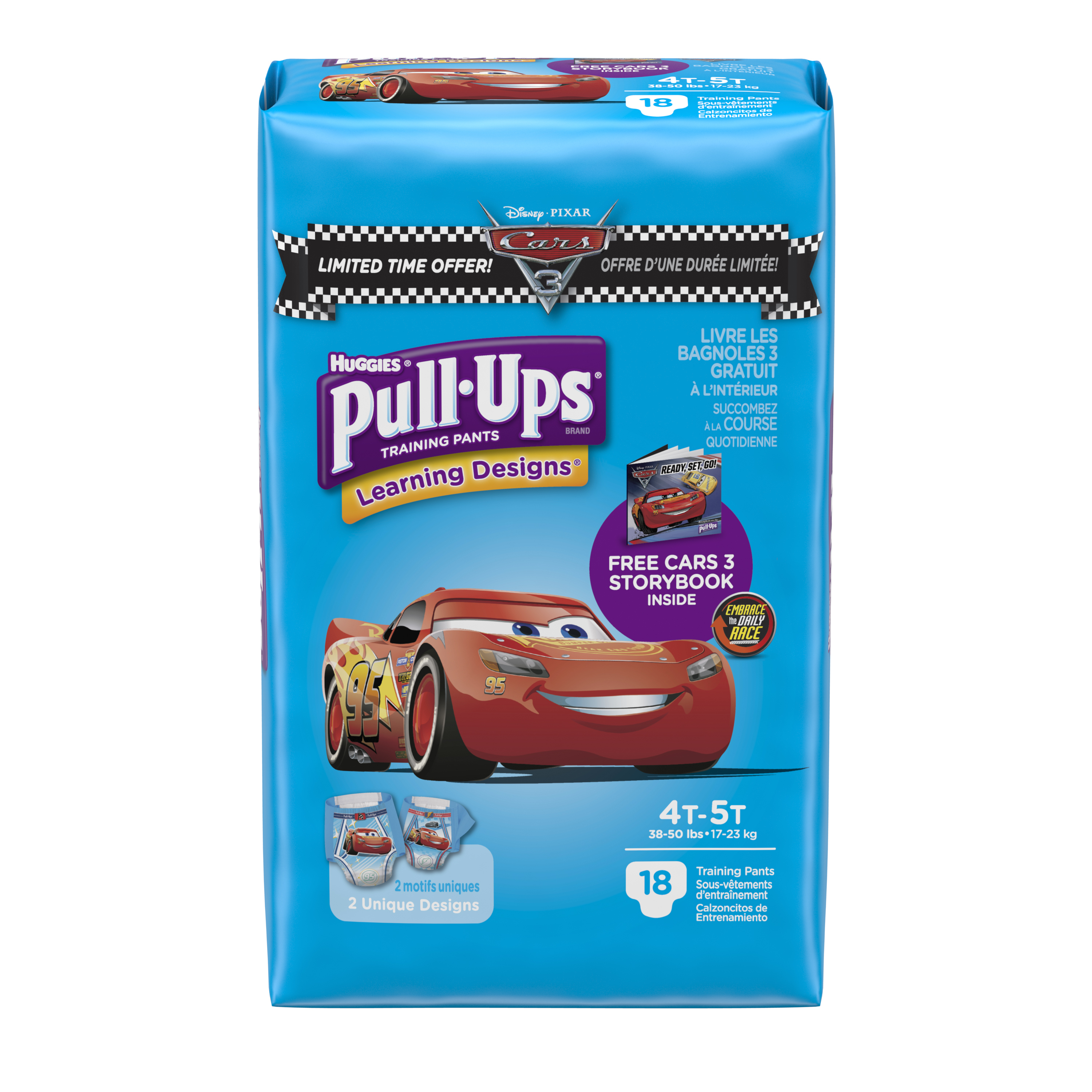 Pull-Ups Boys' Learning Designs Training Pants, Size 4T-5T, 18 Count