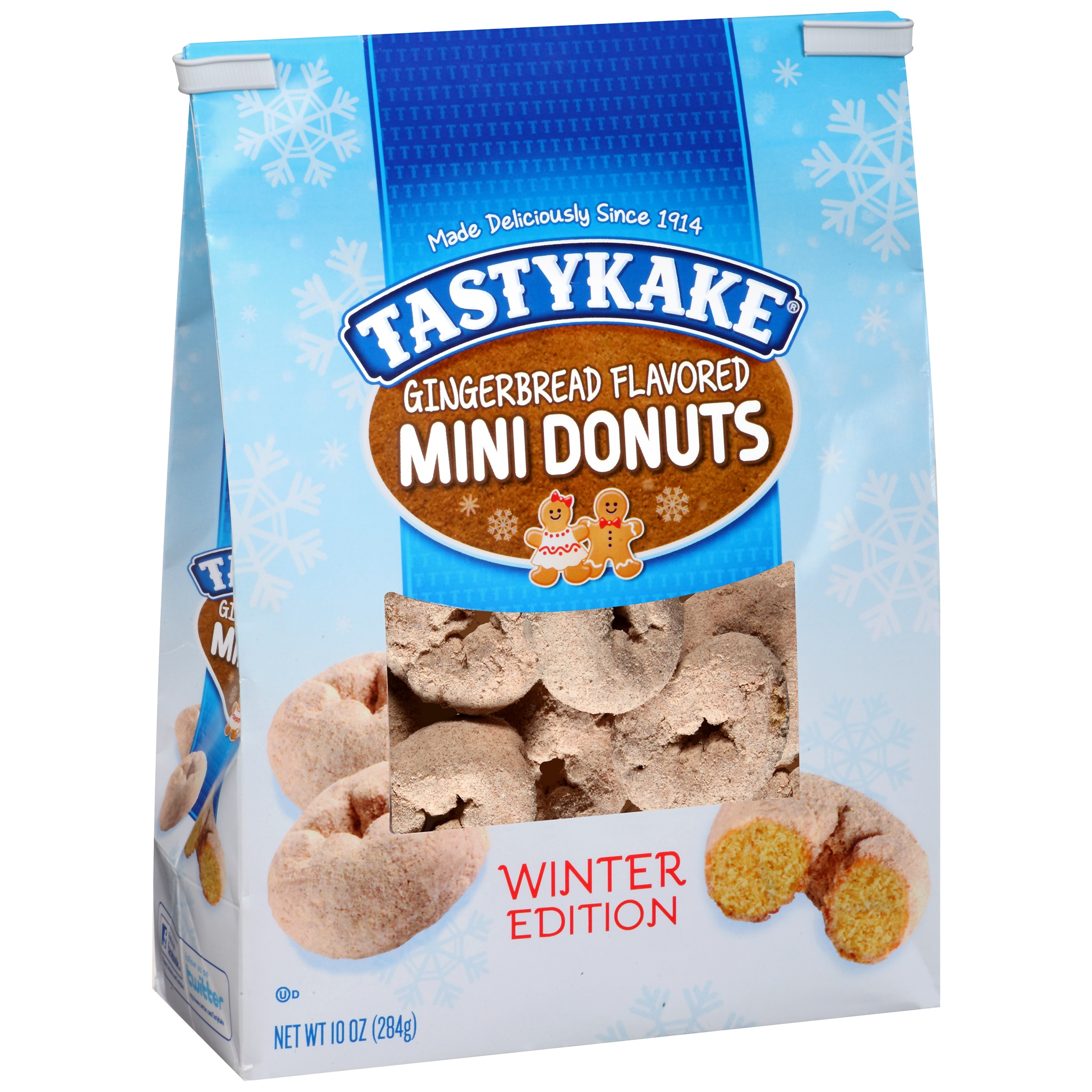 Tastykake® Winter Edition Gingerbread Flavored Mini Donuts 10 oz. Bag