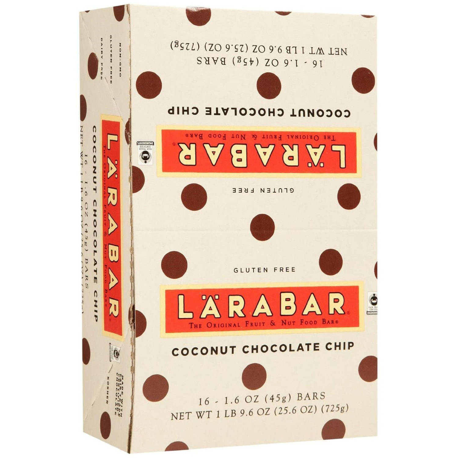Larabar Coconut Chocolate Chip Fruit & Nut Food Bars, 1.6 oz, 16 count
