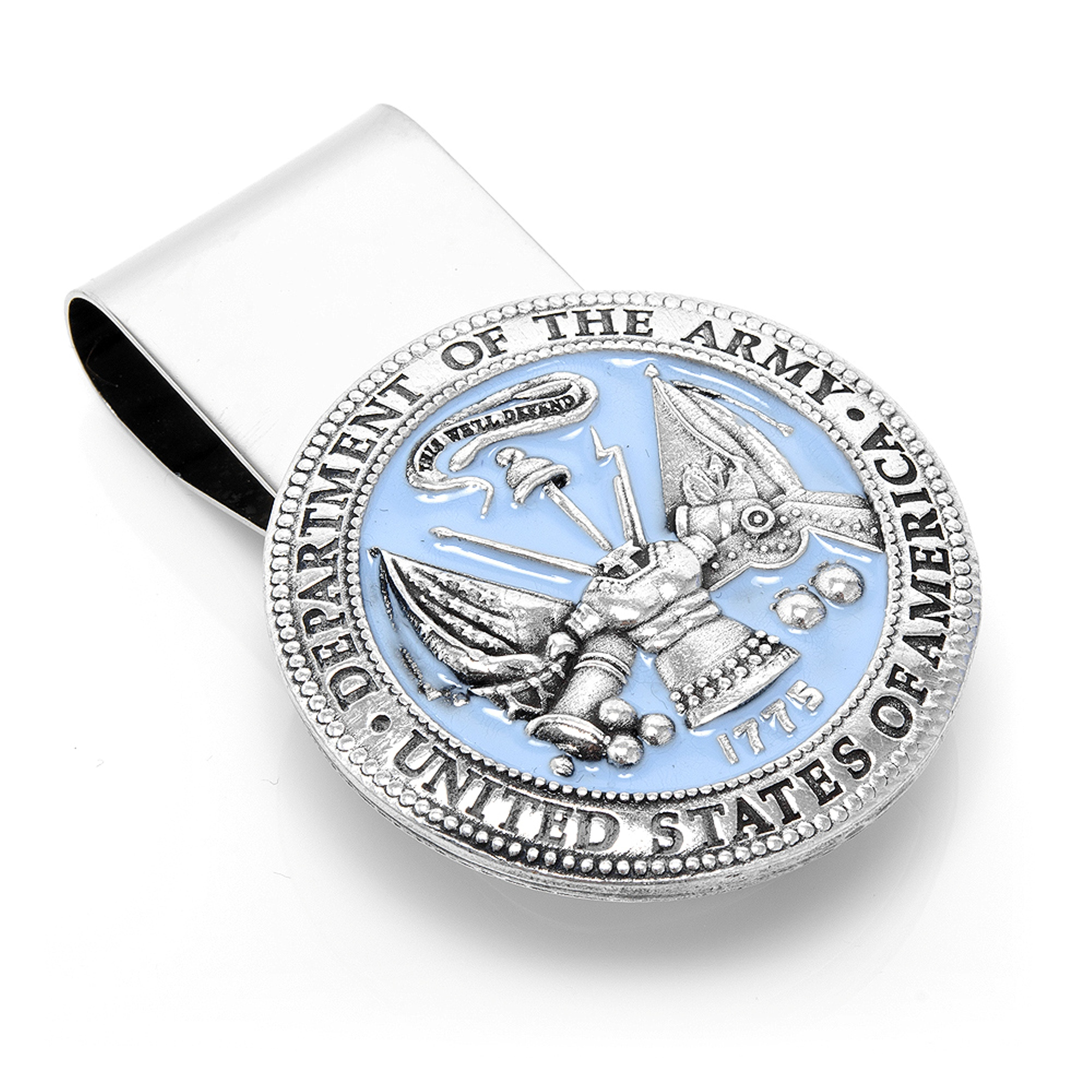 Mens Plated Pewter U.S. Army Money Clip MC3153EB NEW