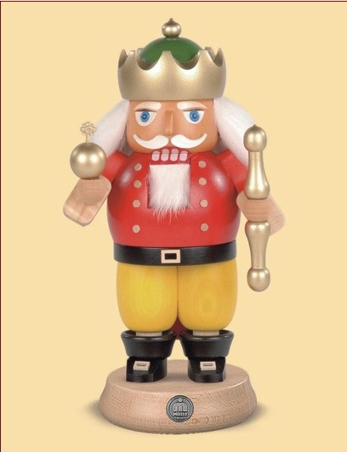 "8.5"" Müller Collectible German King Wooden Nutcracker Christmas Table Top Figure"