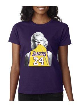 e5bff41a Product Image Trendy USA 412 - Women's T-Shirt Marilyn Monroe Lakers 24  Kobe Bryant Jersey XS