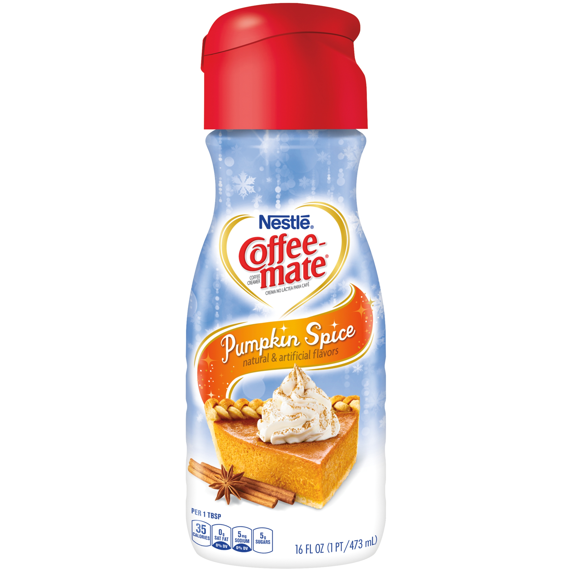 COFFEE MATE Pumpkin Spice Liquid Coffee Creamer 16 Fl. Oz. Bottle    Walmart.com