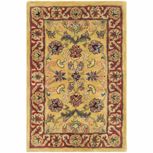 Safavieh Classic Hannah Tufted Wool Area Rug, Gold/Red