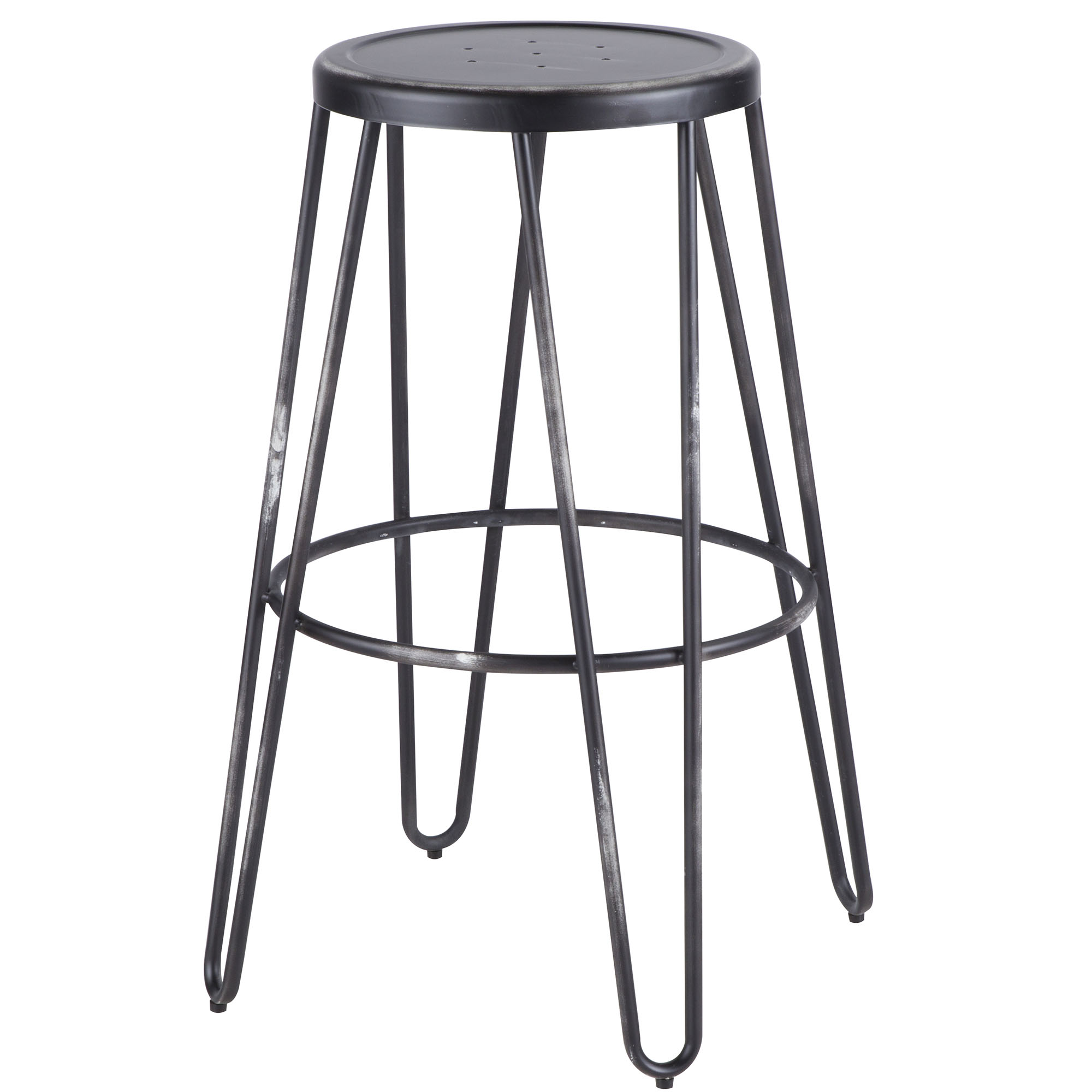 Avery Industrial Metal Bar Stool in Vintage Black by Lumisource Set of 2 by LumiSource