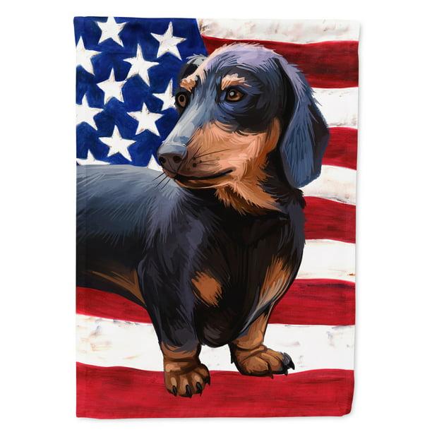 Dachshund Dog American Flag Garden Walmart Com