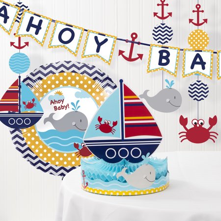 Ahoy Matey Nautical Baby Shower Decorations Kit - Nautical Theme Party Decorations