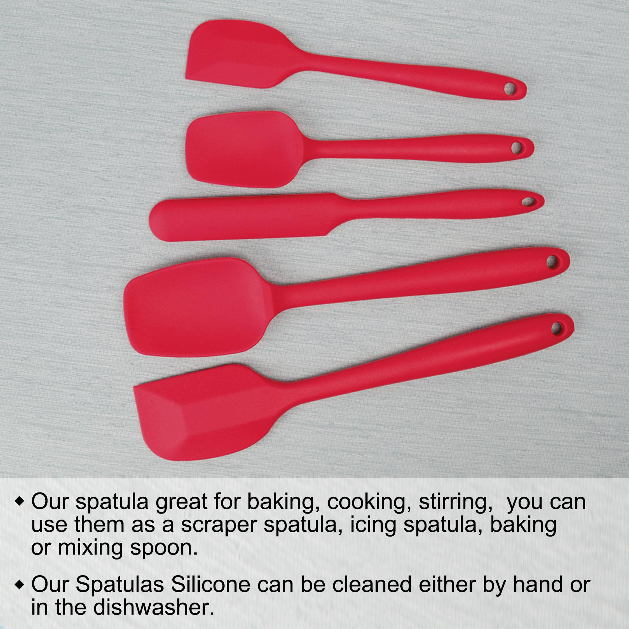 5Pcs Spatulas Set Non Stick Silicone Heat Resistant Baking Kitchen Tools Spatula