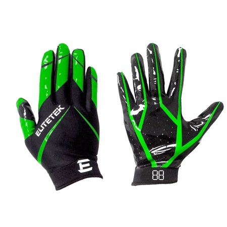 EliteTek RG-14 Football Gloves Youth and Adult (Neon Green 219f20cc3