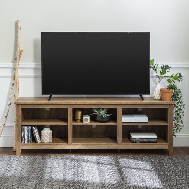 """Manor Park Wood TV Media Storage Stand for TVs up to 78"""" - Reclaimed Barnwood"""