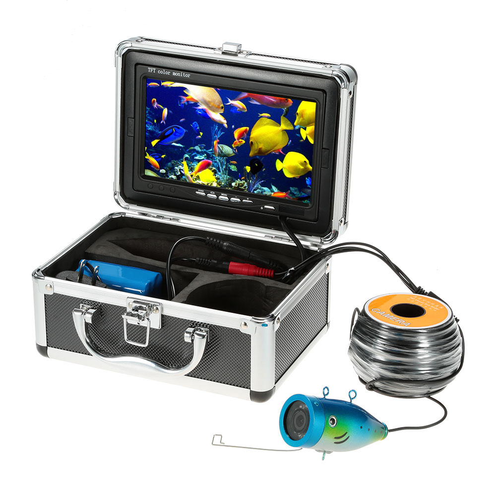 "7"" TFT LCD Monitor 800TVL Portable Night Vision IR LED Light Control Fish Finder Underwater Fishing Camera with 30M / 50M Cable"